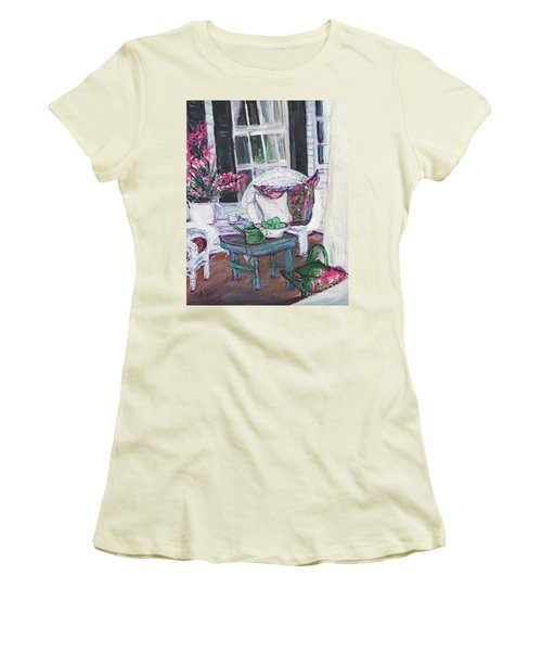 Afternoon At Emmaline's Front Porch Women's T-Shirt (Athletic Fit)