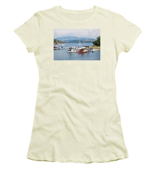 Agios Stefanos Women's T-Shirt (Junior Cut) by George Katechis