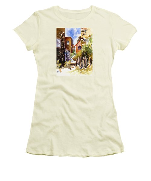 Alleyway Charm 2 Women's T-Shirt (Junior Cut) by Rae Andrews