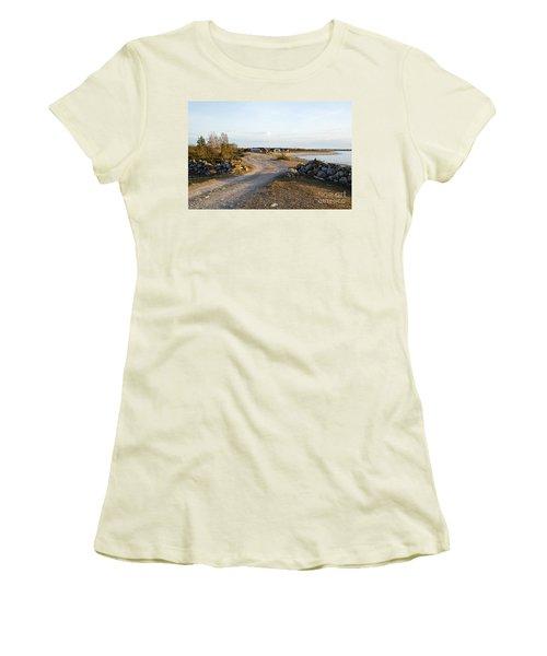 Women's T-Shirt (Junior Cut) featuring the photograph Along The Coast by Kennerth and Birgitta Kullman