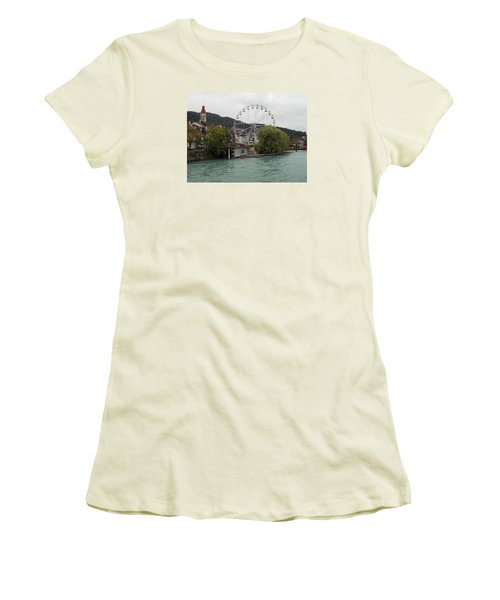 Along The River In Thun Women's T-Shirt (Athletic Fit)