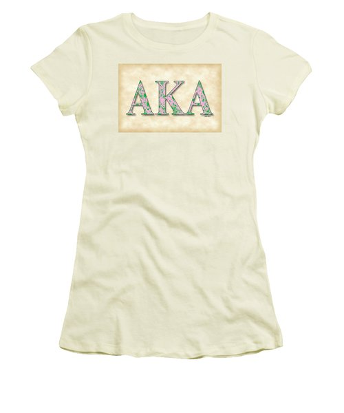 Alpha Kappa Alpha - Parchment Women's T-Shirt (Athletic Fit)