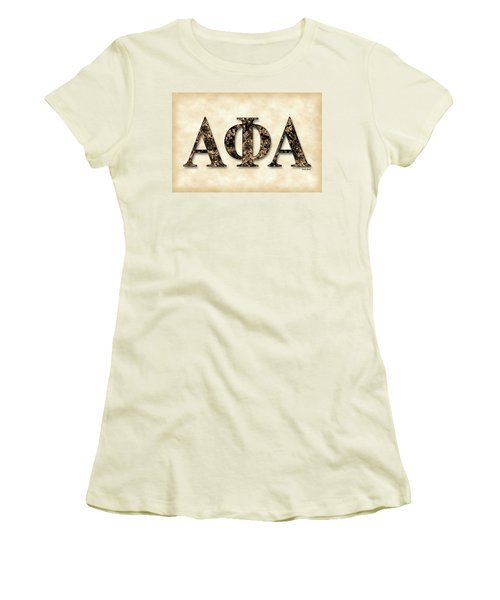 Alpha Phi Alpha - Parchment Women's T-Shirt (Athletic Fit)