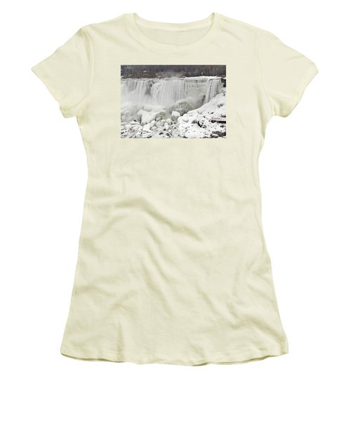 American Falls Women's T-Shirt (Junior Cut) by JT Lewis