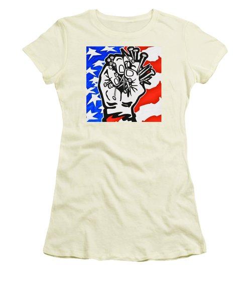The Price Of Liberty Women's T-Shirt (Junior Cut) by Yelena Tylkina