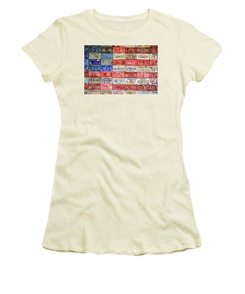 Women's T-Shirt (Junior Cut) featuring the photograph American Transportation by Steven Bateson