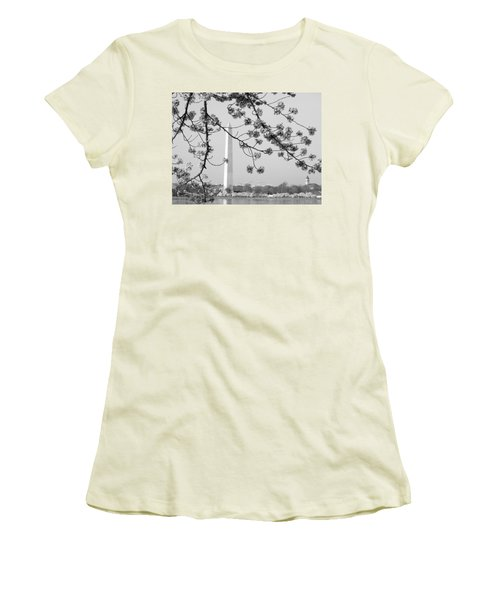 Women's T-Shirt (Junior Cut) featuring the photograph Amongst The Cherry Blossoms by Emmy Marie Vickers