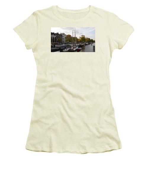 Amstel River Women's T-Shirt (Junior Cut) by Cheryl Miller