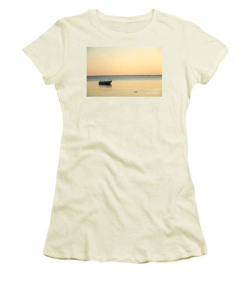 Women's T-Shirt (Junior Cut) featuring the photograph Anchored  by Kennerth and Birgitta Kullman