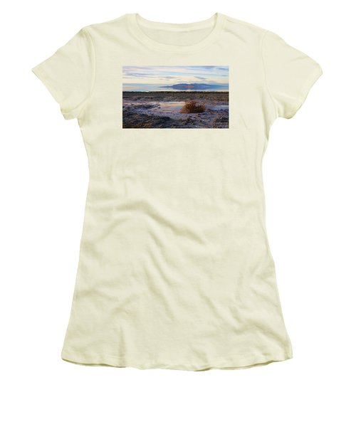 Women's T-Shirt (Junior Cut) featuring the photograph Antelope Island - Tumble Weed by Ely Arsha