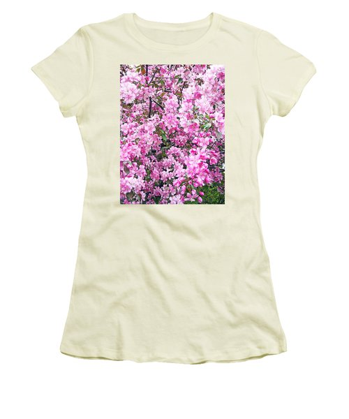 Apple Blossoms Women's T-Shirt (Junior Cut) by Aimee L Maher Photography and Art Visit ALMGallerydotcom