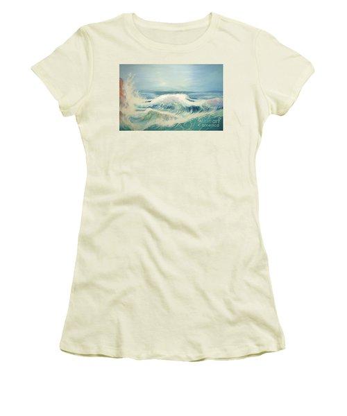 Aqua Sea Scape Women's T-Shirt (Junior Cut)
