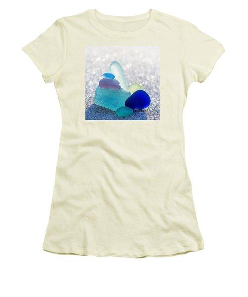 Arctic Peaks Women's T-Shirt (Junior Cut) by Barbara McMahon