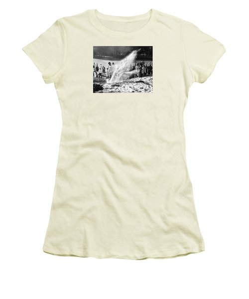 Arnold Palmer At Pebble Beach California Rey Ruppel Photo Circa 1955 Women's T-Shirt (Junior Cut) by California Views Mr Pat Hathaway Archives