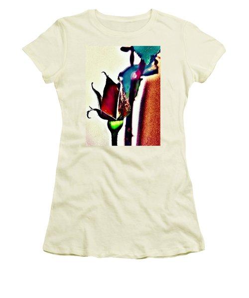 Women's T-Shirt (Junior Cut) featuring the photograph Artful Bud by Faith Williams