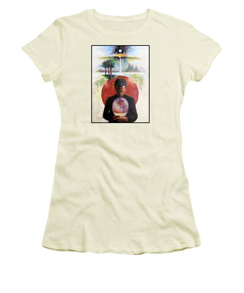 Arthur Ashe Women's T-Shirt (Junior Cut) by John Lautermilch