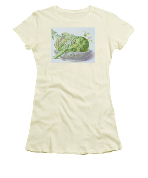 Artichokes Women's T-Shirt (Junior Cut) by Lizzie Riches