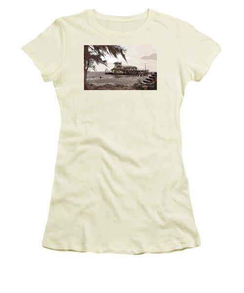 Tugboat From Louisiana Katrina Women's T-Shirt (Junior Cut) by Luana K Perez