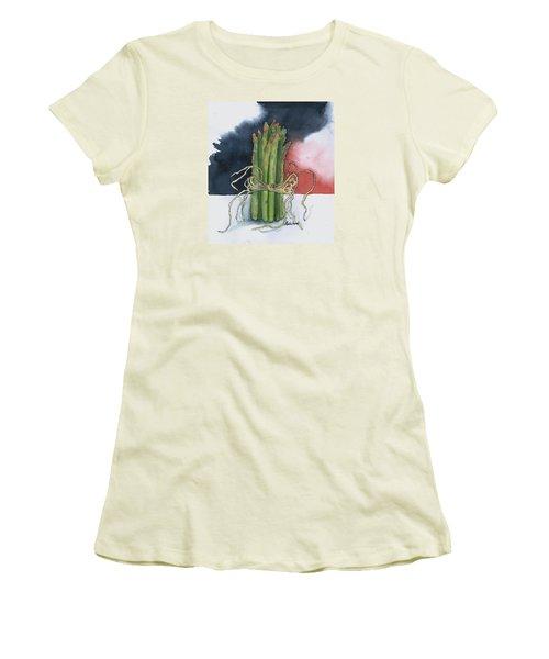 Asparagus In Raffia Women's T-Shirt (Junior Cut) by Maria Hunt