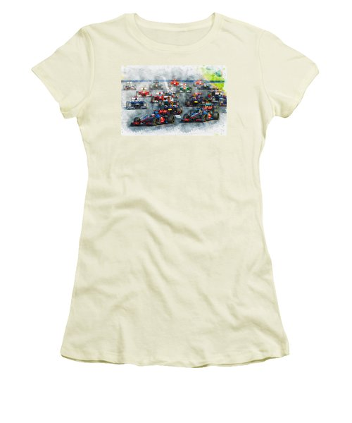 Australian Grand Prix F1 2012 Women's T-Shirt (Athletic Fit)