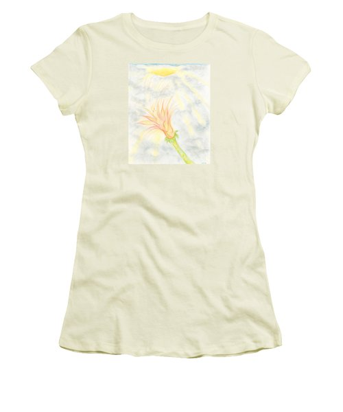 Awakening Women's T-Shirt (Junior Cut) by Kim Sy Ok