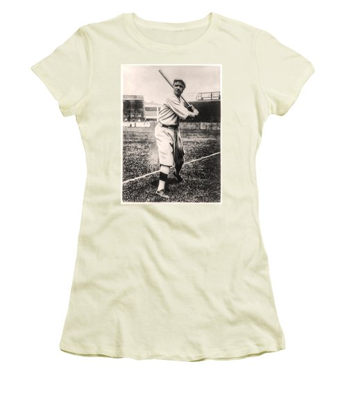 Babe Ruth Women's T-Shirt (Junior Cut) by Bill Cannon