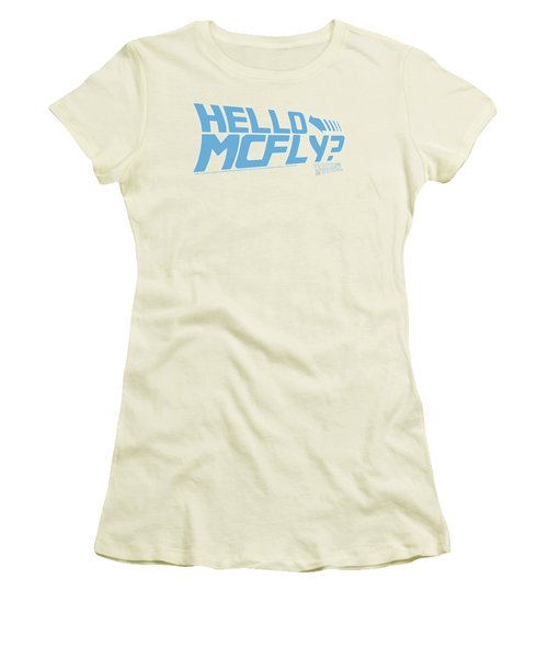 Back To The Future - Hello Mcfly Women's T-Shirt (Athletic Fit)
