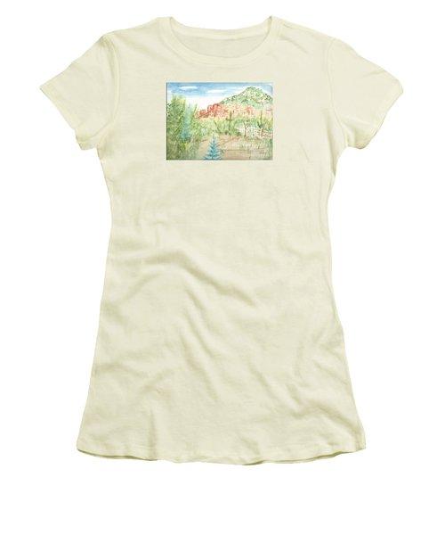 Backyard Sedona Women's T-Shirt (Athletic Fit)
