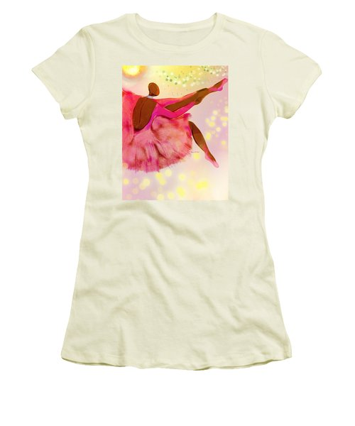 Baldheadballerina Women's T-Shirt (Junior Cut) by Romaine Head