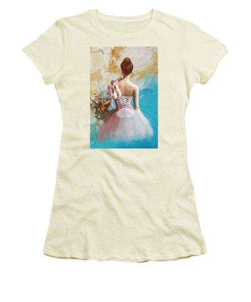 Ballerina's Back  Women's T-Shirt (Athletic Fit)
