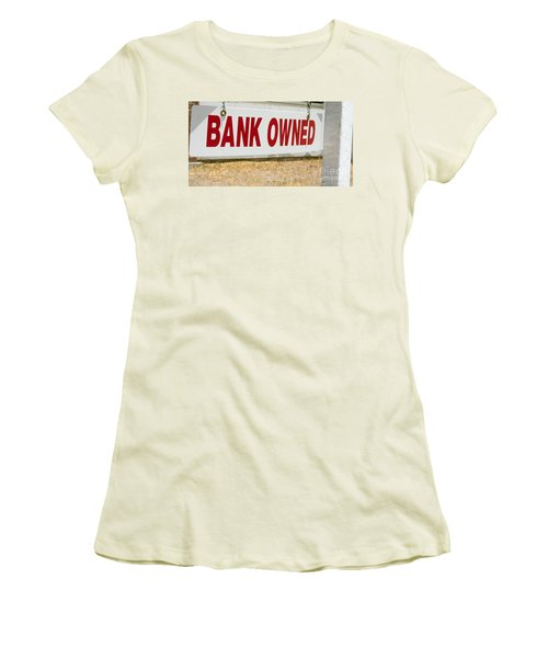 Bank Owned Real Estate Sign Women's T-Shirt (Athletic Fit)