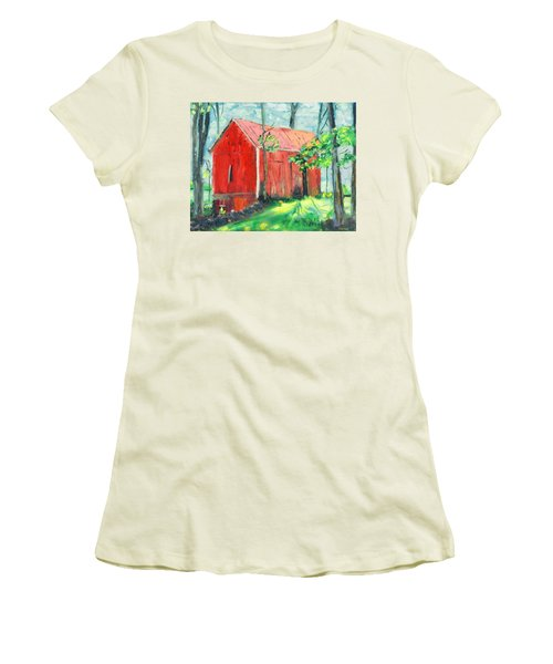 Barn At Walpack Women's T-Shirt (Athletic Fit)