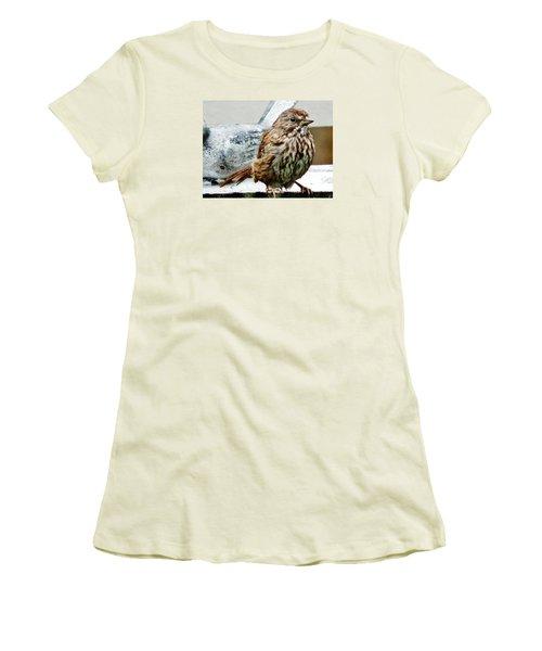 Women's T-Shirt (Junior Cut) featuring the photograph Bathe Then Fluff by VLee Watson