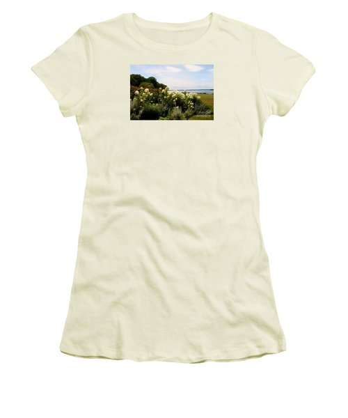 Bay View Bristol Rhode Island Women's T-Shirt (Junior Cut) by Tom Prendergast