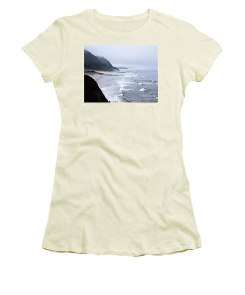Beach Frontage In Monet Women's T-Shirt (Athletic Fit)
