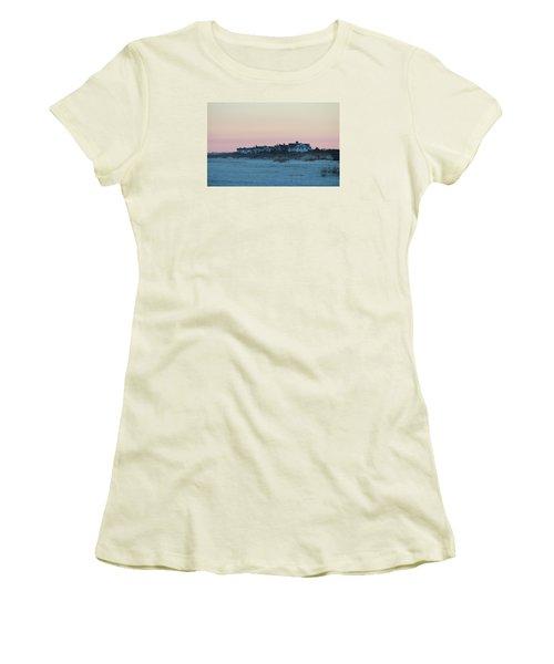 Beach Houses Women's T-Shirt (Junior Cut) by Cynthia Guinn