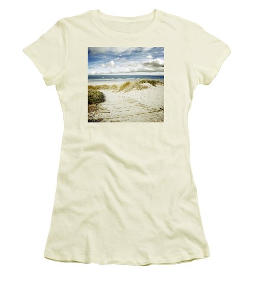 Beach View Women's T-Shirt (Junior Cut) by Les Cunliffe