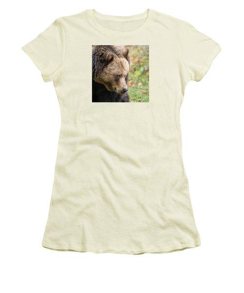 Women's T-Shirt (Junior Cut) featuring the photograph Bear's Profile by Simona Ghidini