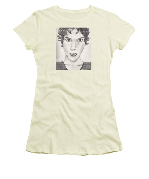 Women's T-Shirt (Junior Cut) featuring the drawing Beau by David Jackson
