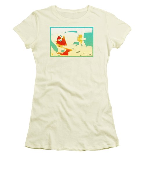 Women's T-Shirt (Junior Cut) featuring the photograph Fixed Wing Aircraft Poster by R Muirhead Art