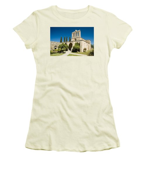 Bellapais Abbey Kyrenia Women's T-Shirt (Junior Cut) by Jeremy Voisey