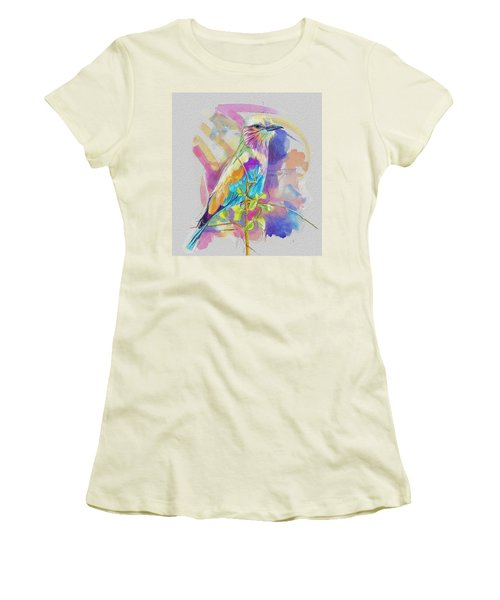 Bird On A Twig Women's T-Shirt (Athletic Fit)