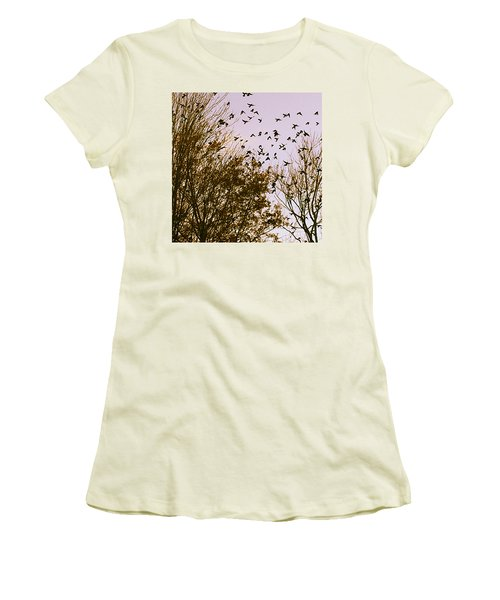 Birds Of A Feather Flock Together Women's T-Shirt (Junior Cut)