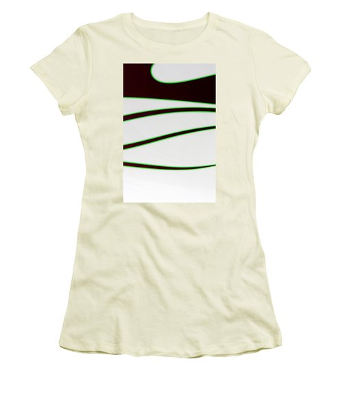 Women's T-Shirt (Junior Cut) featuring the photograph Black And Green by Joe Kozlowski