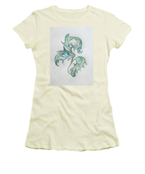 Blue Blossom 2 Women's T-Shirt (Athletic Fit)