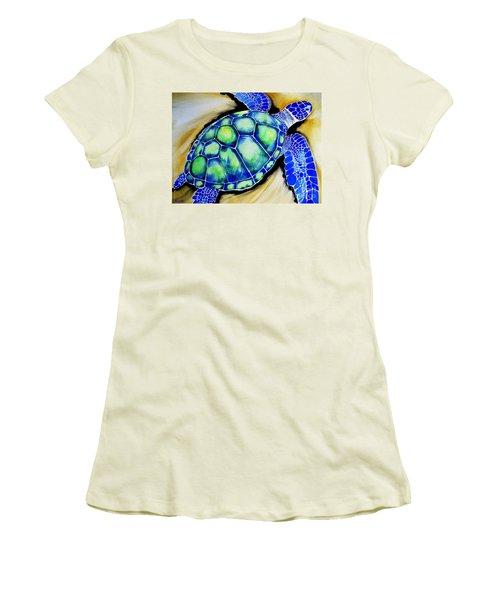 Blue Turtle Women's T-Shirt (Athletic Fit)