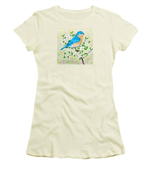 Bluebird And Dogwood Women's T-Shirt (Athletic Fit)