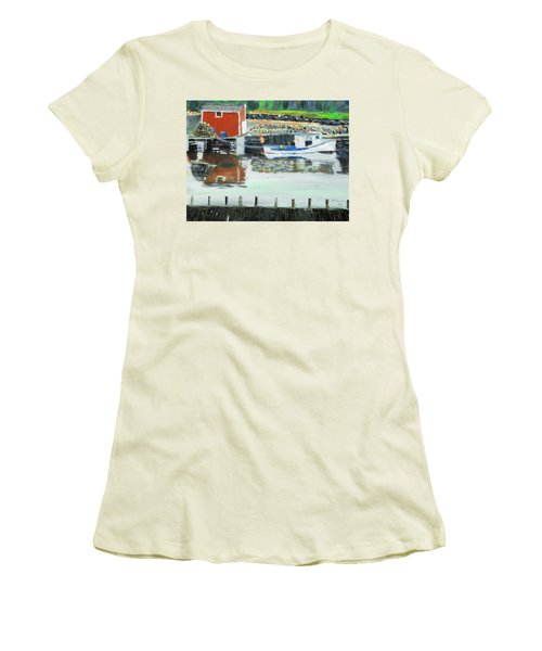 Boat At Louisburg Ns Women's T-Shirt (Athletic Fit)