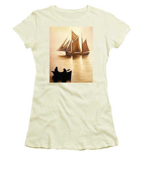 Boats In Sun Light Women's T-Shirt (Athletic Fit)