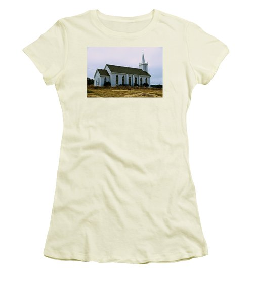 Bodega Church Women's T-Shirt (Junior Cut) by Eric Tressler
